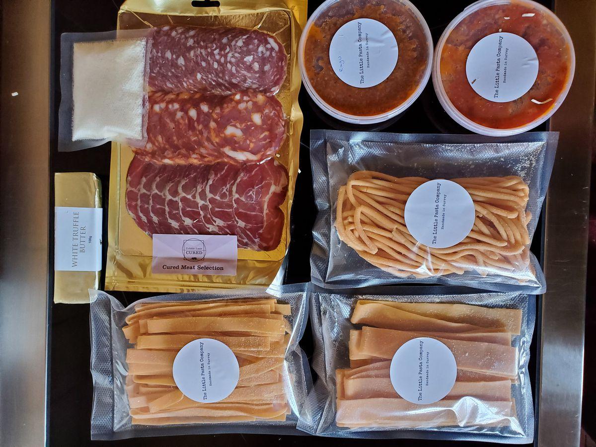 Ingredienti della scatola di pasta