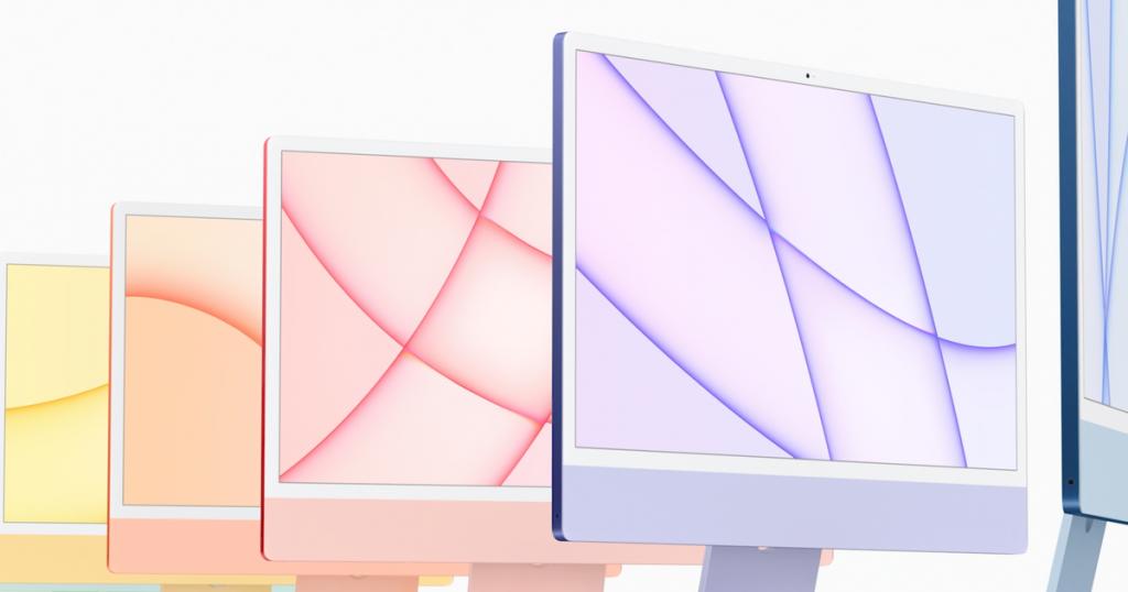 Il nuovo iMac tocca il colore nella prima riprogettazione di Apple dal 2012