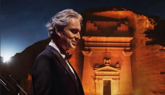 Italian tenor Andrea Bocelli serenades ancient Saudi city