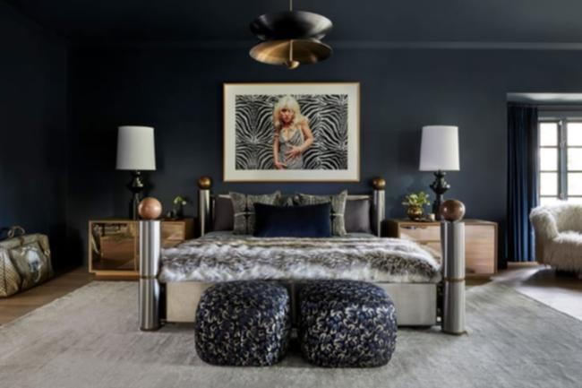 La camera da letto è uno degli spazi più tranquilli nella casa di LA di Miley Cyrus.