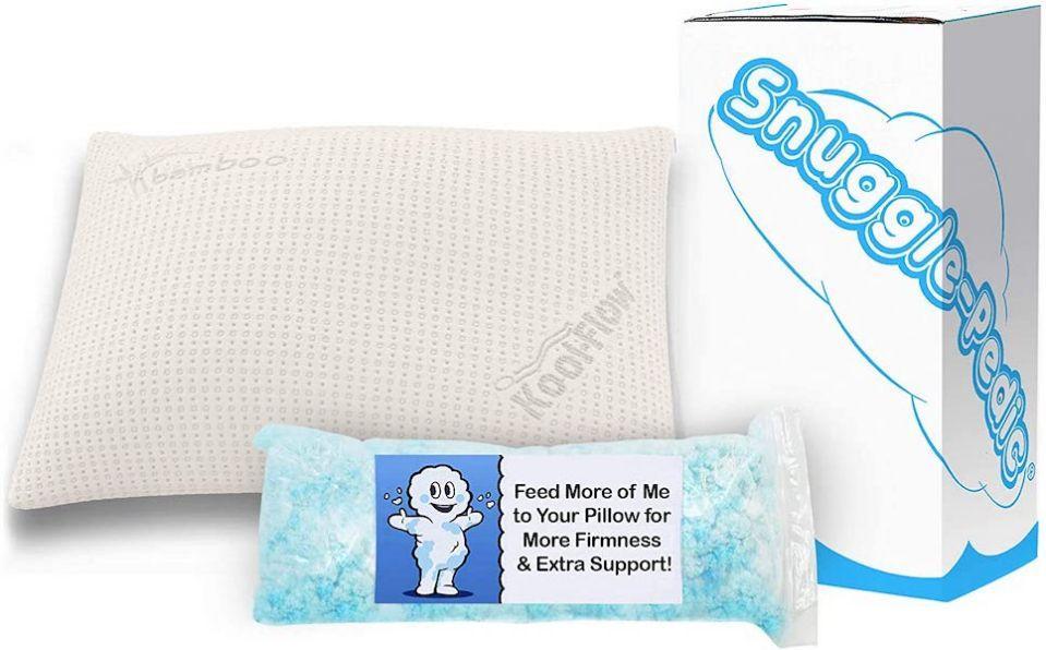 Aggiungi più o meno imbottitura al tuo cuscino per una sensazione perfetta.  (Immagine: Amazon)