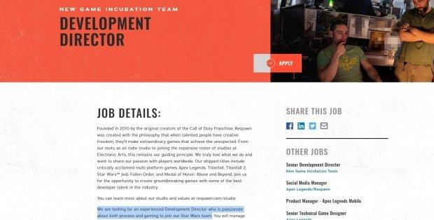 Respawn potrebbe lavorare su più progetti di Star Wars contemporaneamente 23 |  TweakTown.com