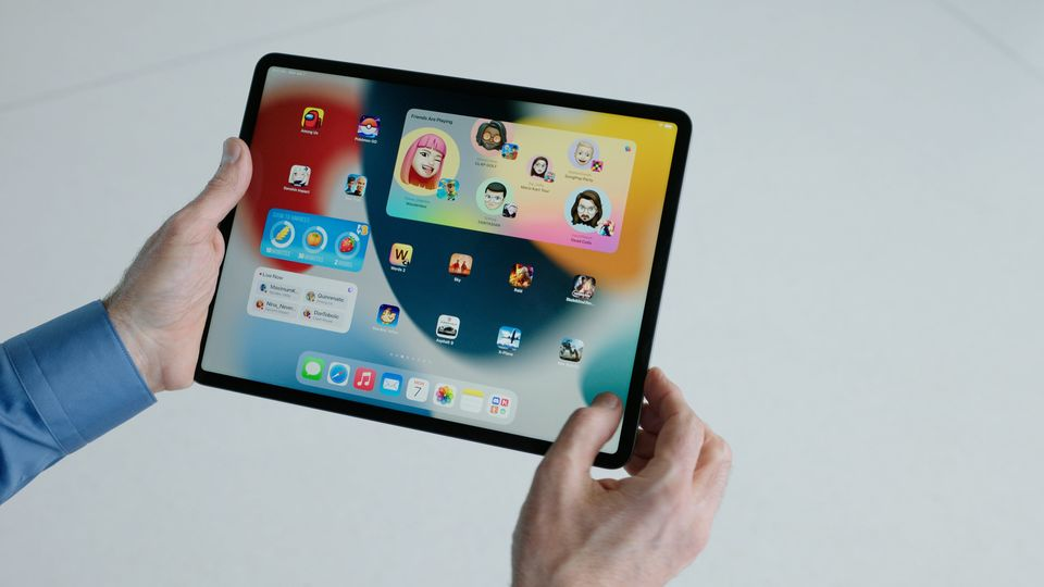 La nuova schermata iniziale dell'iPad.