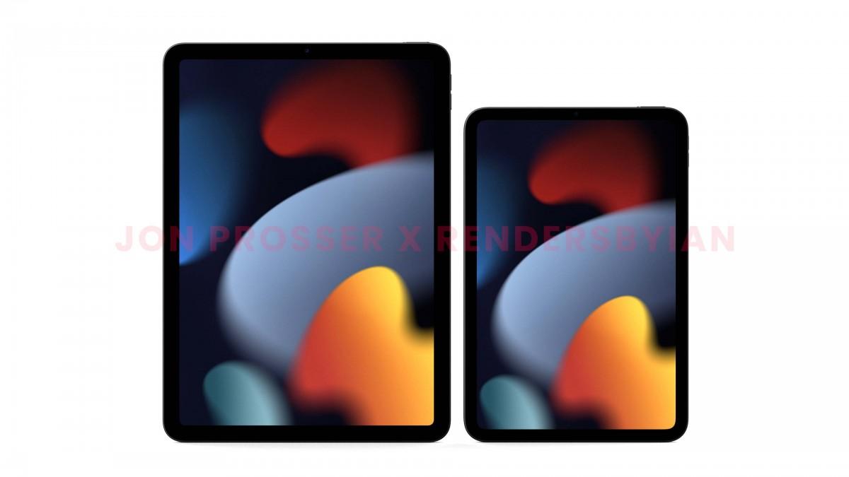 iPad Air (2020) a sinistra, iPad mini 6 a destra