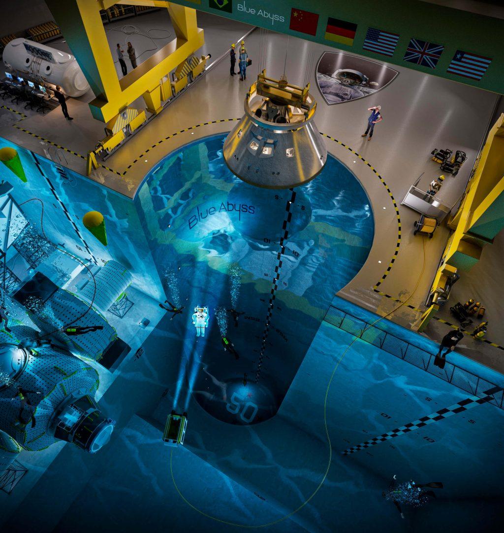 Blue Abyss rivela la piscina più profonda del mondo, la scansione 3D dei droni e altro ancora