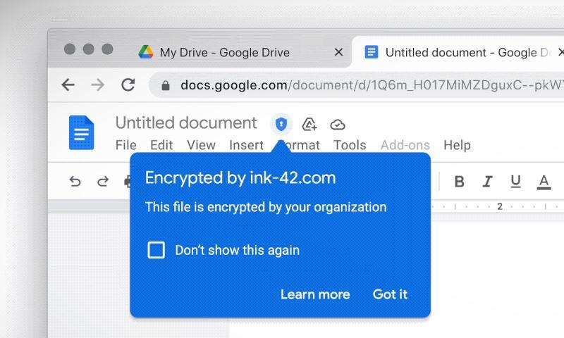 Google consentirà alle organizzazioni di archiviare le proprie chiavi di crittografia di Google Workspace