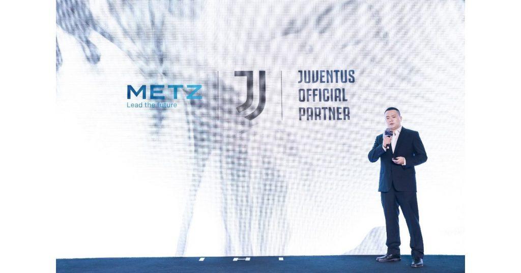 METZ blue annuncia una partnership commerciale con la squadra di calcio leader mondiale Juventus per supportare il suo piano di espansione globale