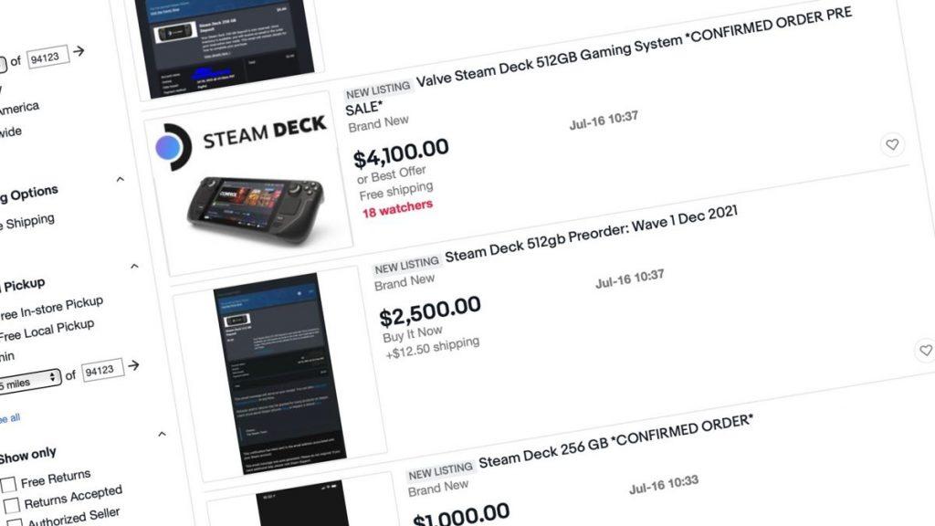 Piattaforma Steam per $ 4.000?  Gli speculatori stanno effettuando i preordini per il PC palmare di Valve