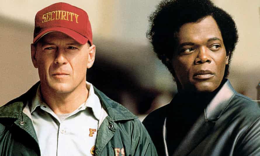 Bruce Willis e Samuel L Jackson in Unbreakable