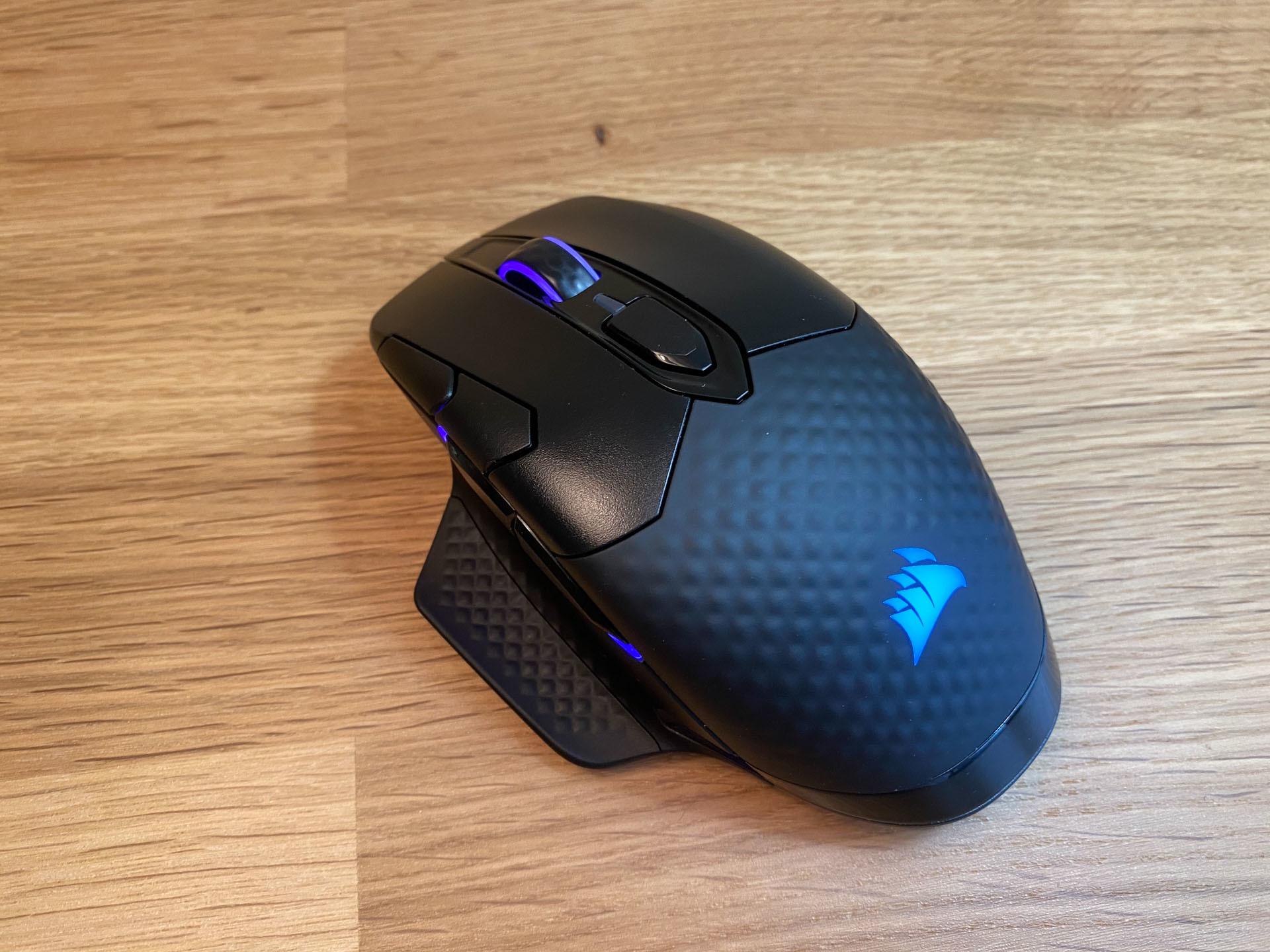 Mouse da gioco wireless Corsair Dark Core RGB Pro SE Angolo sinistro