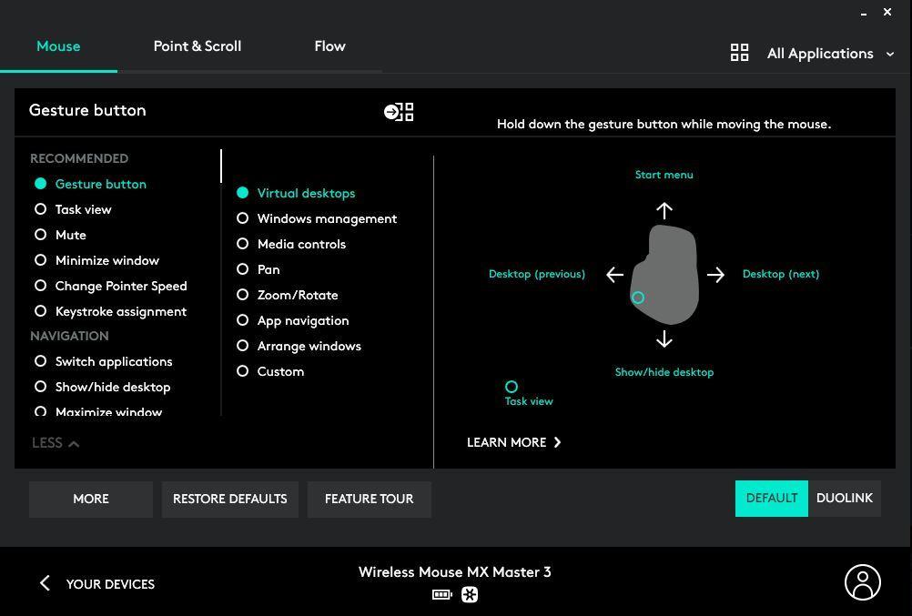 Software per mouse Logitech MX Master 3
