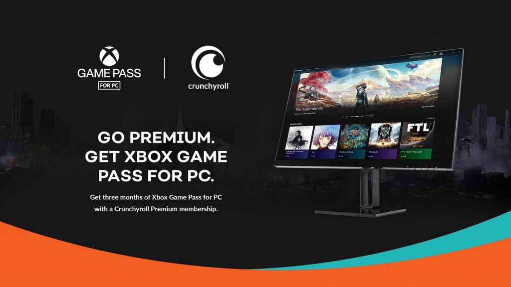 Crunchyroll Premium + Xbox = Pass di gioco gratuito