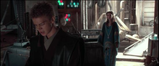 """Padme: """"Non siete tutti potenti."""" Anakin: """"Beh, dovrei esserlo.  Un giorno lo sarò.  Diventerò il Jedi più forte di sempre."""" Star Wars: Episodio 2: L'attacco dei cloni"""