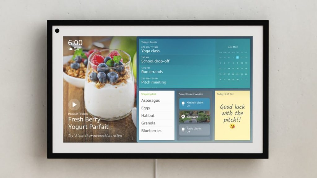 Amazon va alla grande con un display Echo da 15 pollici montabile a parete