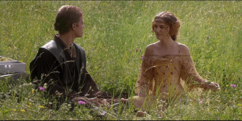 Anakin e Padme, Star Wars Episodio II: L'attacco dei cloni
