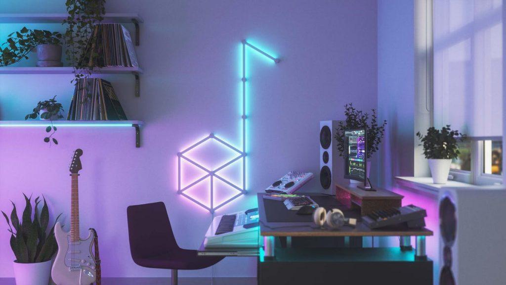 Le strisce Nanoleaf aggiungono un arredamento coinvolgente e vibrante alle tue pareti